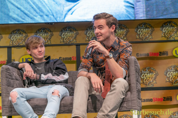 DORTMUND, GERMANY - December 8th 2019: Callan McAuliffe and Matt Linz at German Comic Con Dortmund