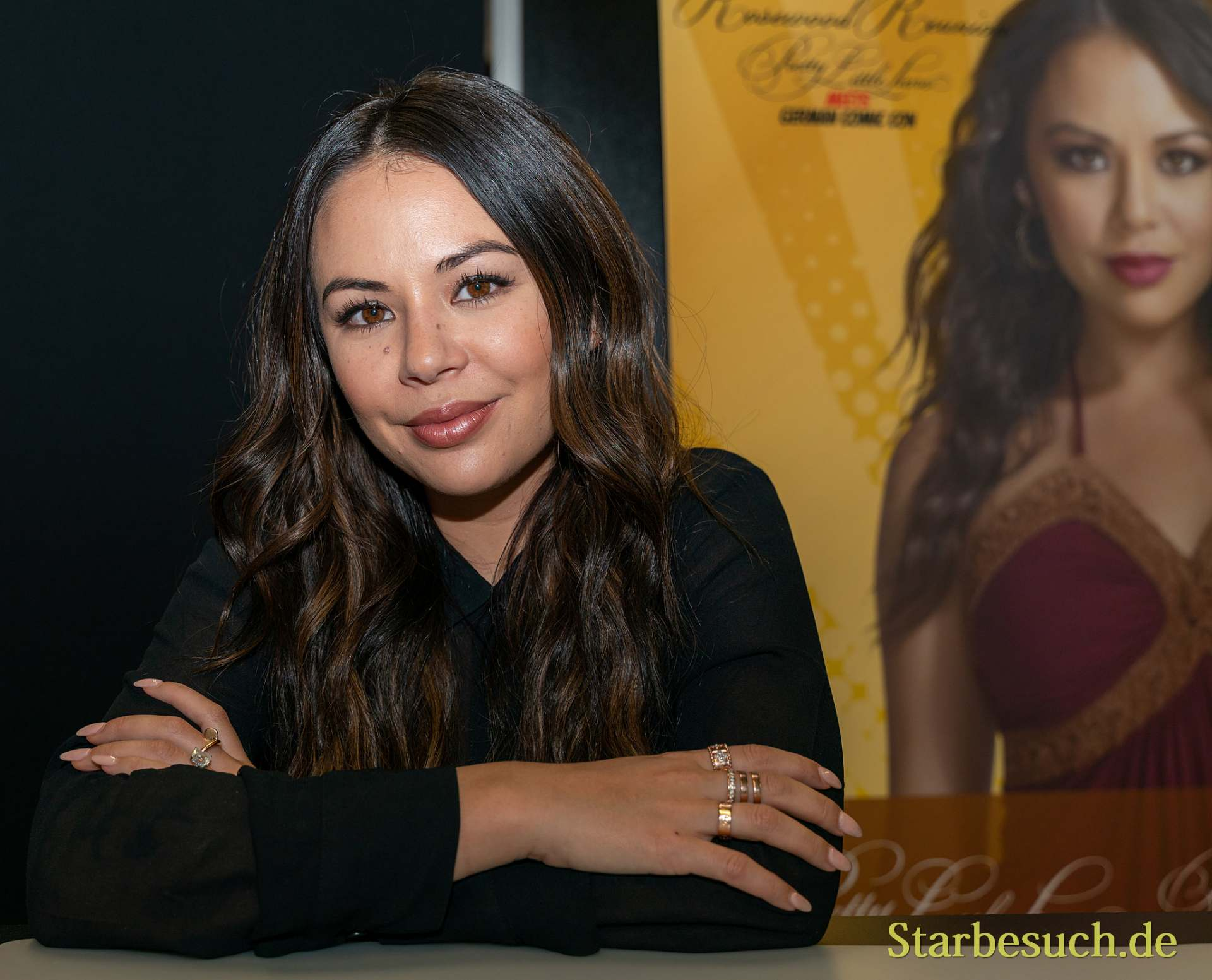 DORTMUND, GERMANY - December 8th 2019: Janel Parrish at German Comic Con Dortmund