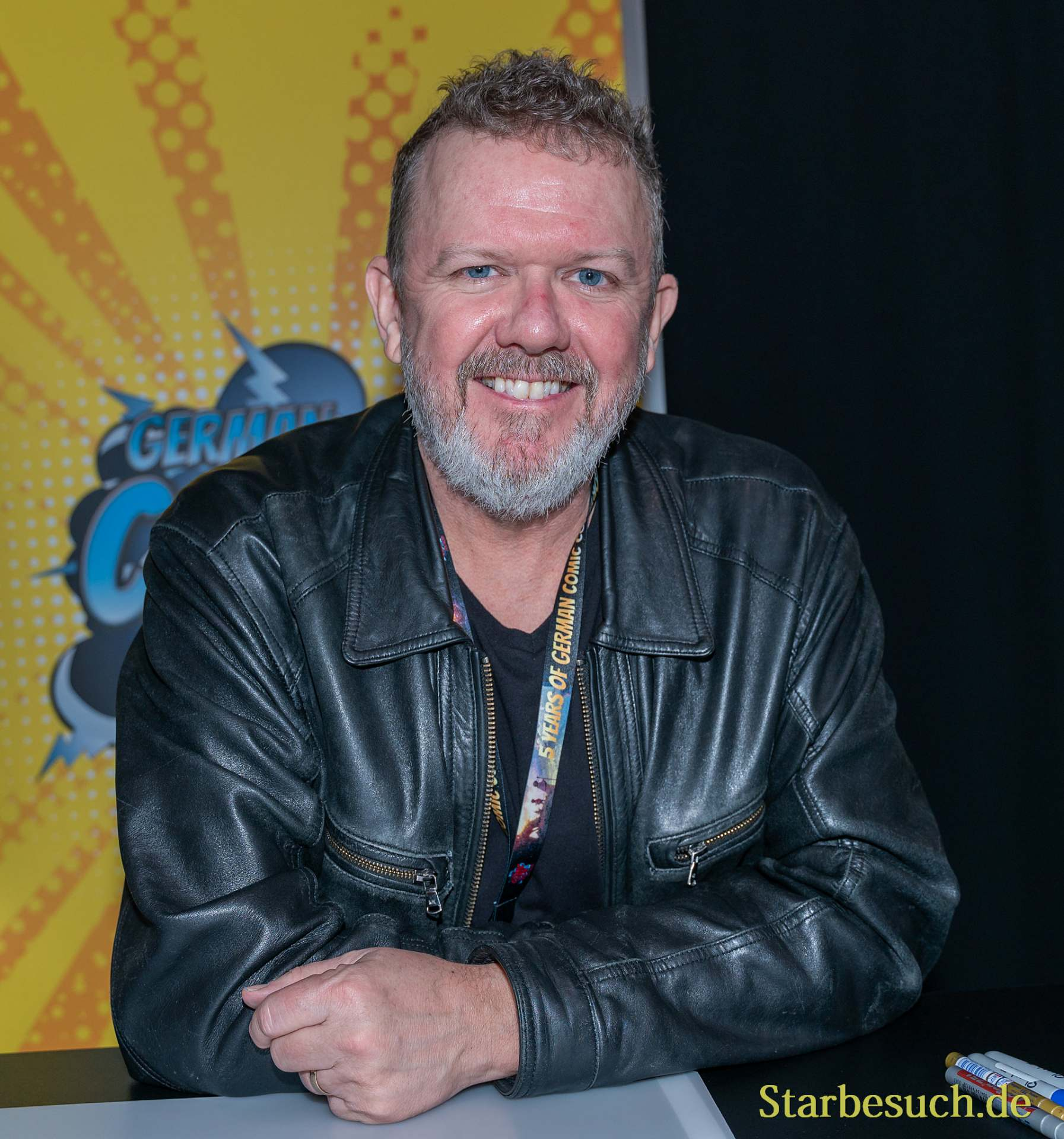 DORTMUND, GERMANY - December 8th 2019: Robert MacNaughton at German Comic Con Dortmund