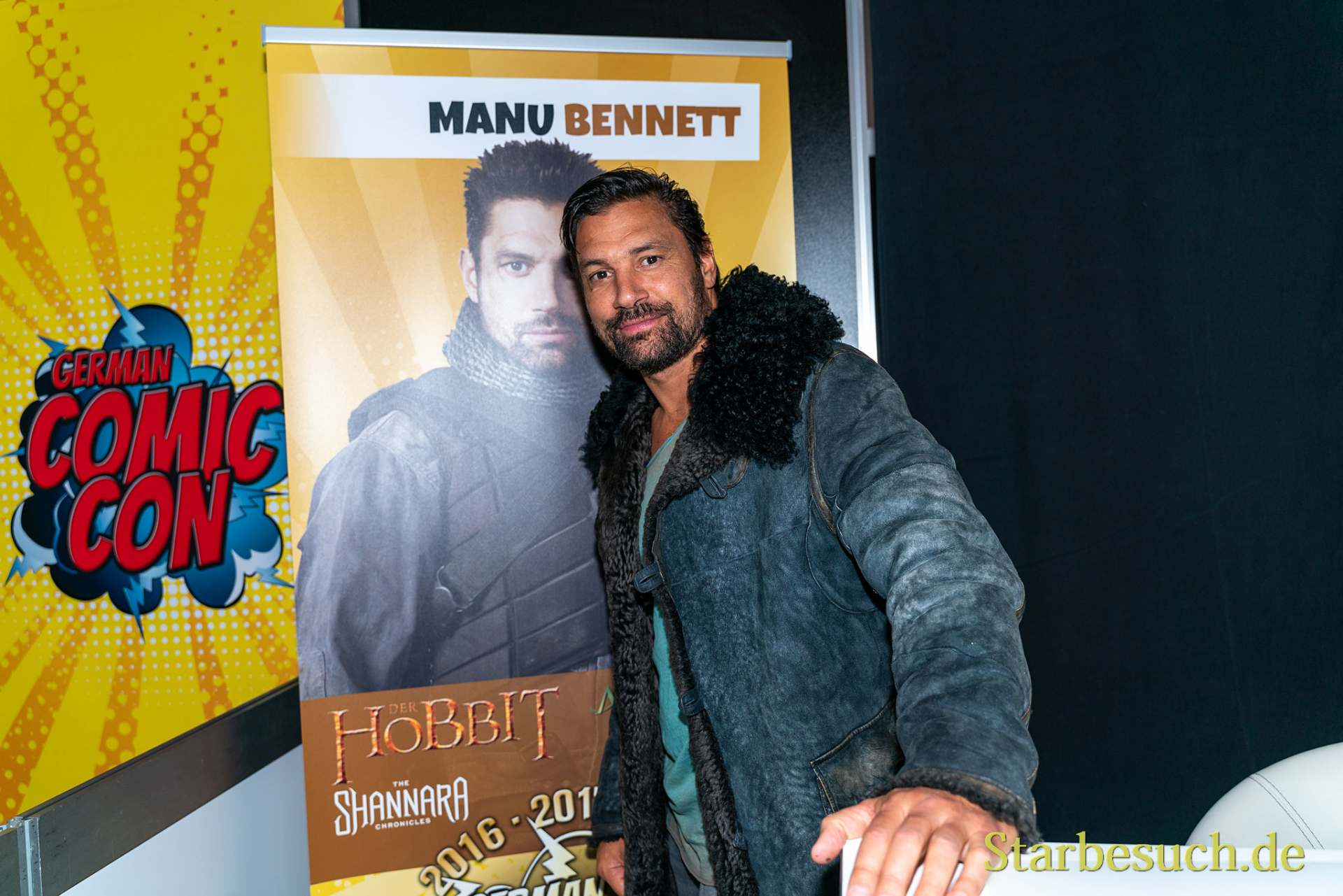 DORTMUND, GERMANY - December 8th 2019: Manu Bennett at German Comic Con Dortmund