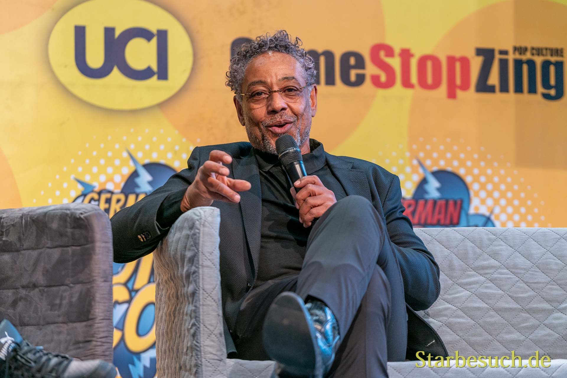 DORTMUND, GERMANY - December 8th 2019: Giancarlo Esposito at German Comic Con Dortmund