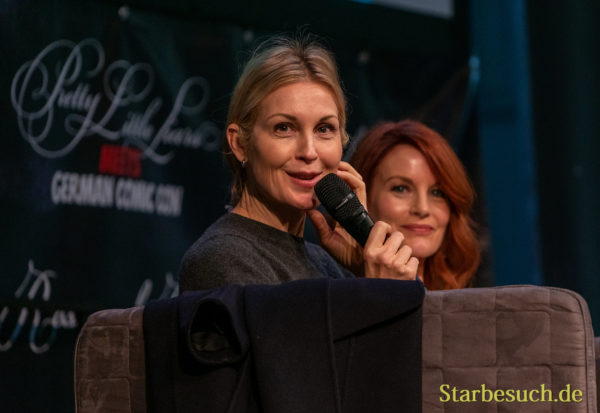 DORTMUND, GERMANY - December 8th 2019: Kelly Rutherford and Laura Leighton at German Comic Con Dortmund