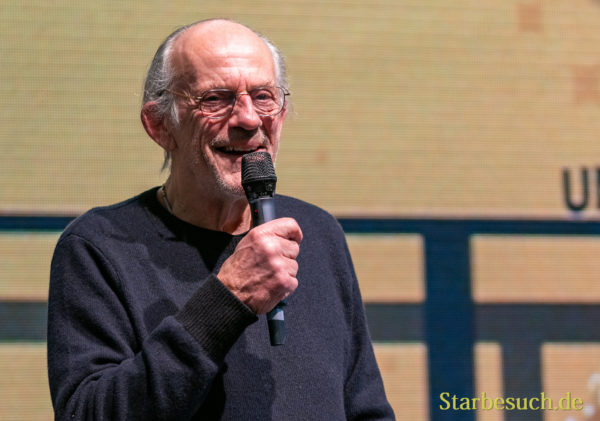 DORTMUND, GERMANY - December 8th 2019: Christopher Lloyd at German Comic Con Dortmund
