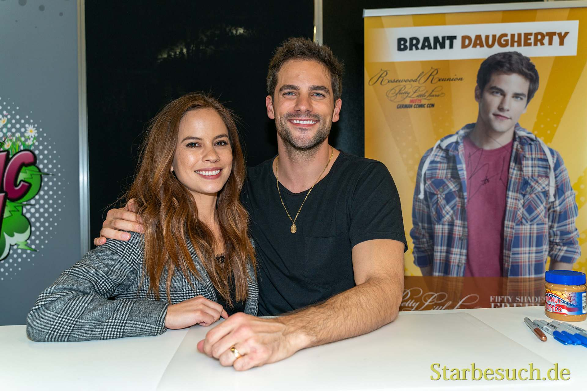 DORTMUND, GERMANY - December 8th 2019: Kimberly Daugherty and Brant Daugherty at German Comic Con Dortmund